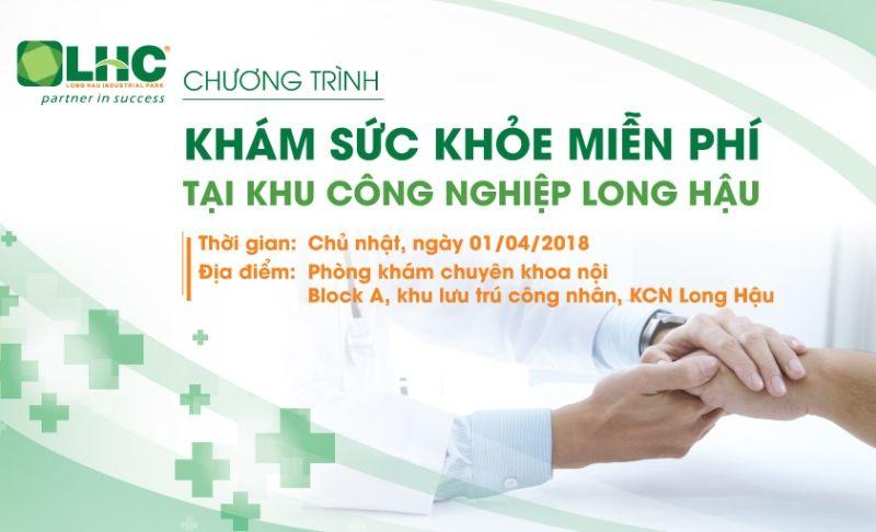 """Sắp diễn ra chương trình """"Khám bệnh miễn phí"""" cho người dân tại xã Long Hậu"""