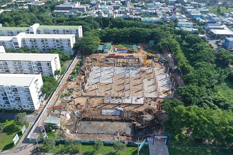 Cập nhật tiến độ xây dựng nhà xưởng cao tầng KCN Long Hậu tháng 06/2019
