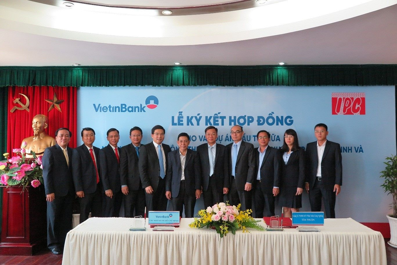 Lễ ký kết hợp đồng tài trợ vốn giữa Công ty TNHH MTV Phát triển Công nghiệp Tân Thuận và Viettinbank
